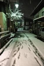 野沢の里に雪が降りました