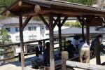 外湯巡りのちょっと一休み(*^o^*)♪ミニ温泉広場【湯らり】のご紹介